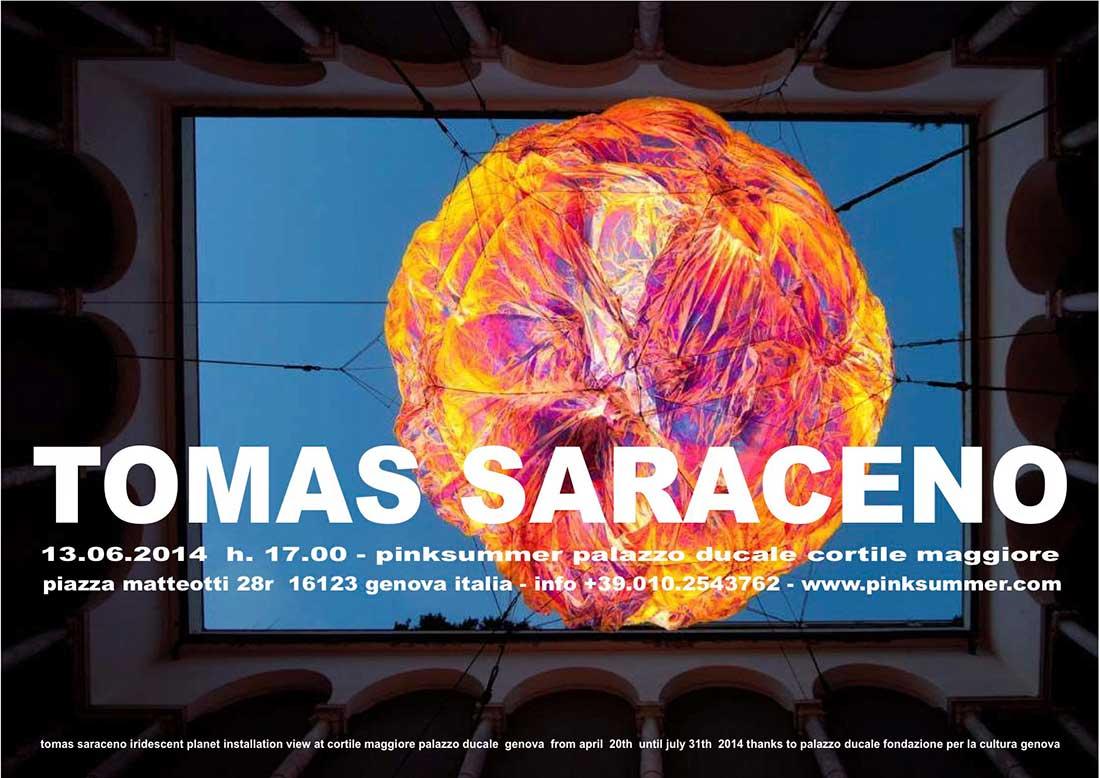 pinksummer-tomas-saraceno-iridescent-planet-invitation-card