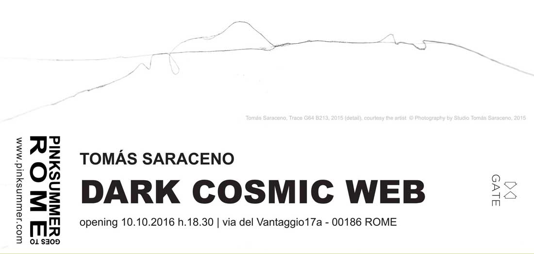 pinksummer-tomas-saraceno-dark-cosmic-web-invitation-card